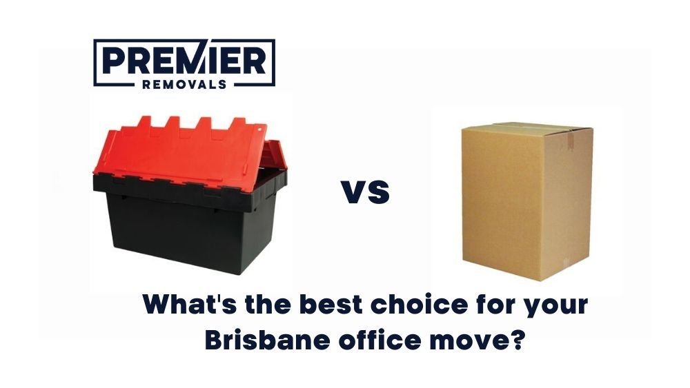 Crates or boxes for Brisbane office moves